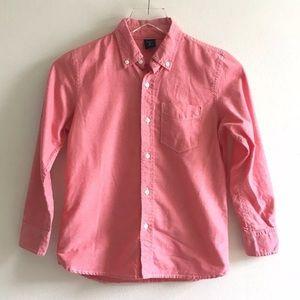 Gap Kids Red Button Down Shirt Boys Size 8 Medium